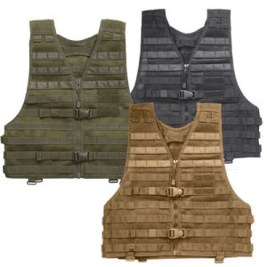 different colors of tactcial vests.