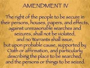 4th Amendment Bill of Rights Consitution