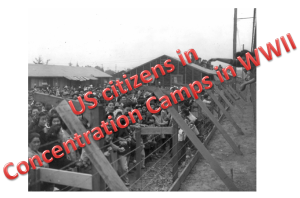 US Citizens locked up in concentration camps during WWII