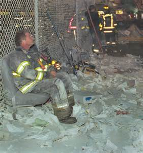9/11 firefighter worn out.