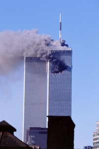 9/11 WTC tower hit by hijacked planee
