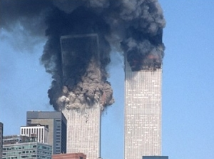 9/11 first WTC tower falls
