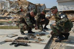 Katrina Gun Confiscation by police and national guard