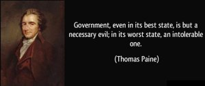 Necessary Evil by Thomas Paine
