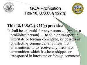 The Gun Control Act of 1968