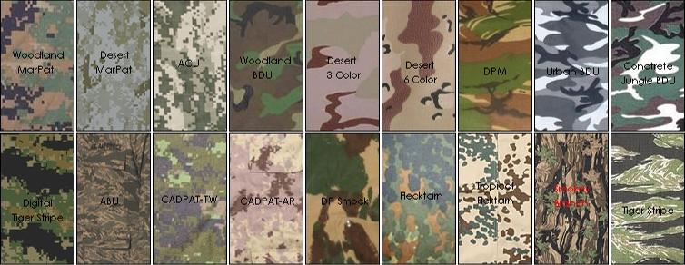 popular Military camouflage camo