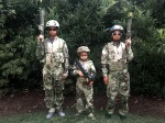 family in camo clothing