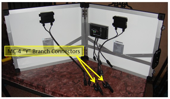 Glowtech60 solar system with Y branch connectors