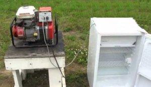 freezer running off a honda generator