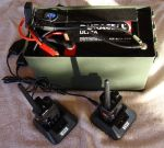 portable power box charging 2 baofeng radios