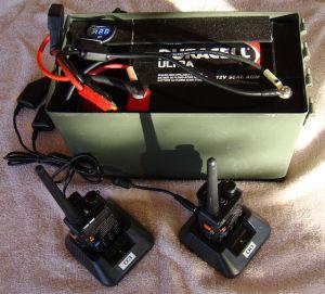 portable power box charging 2 baofeng radios