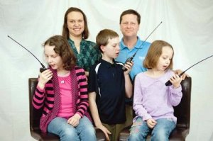 Ham Radios being used by Family