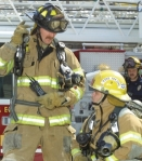 Handheld Radio used by Firefighter