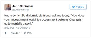 EU tweet that Obama is insane