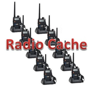 Radio Cache for emergencies, disasters, and grid-down baofeng radio cache
