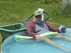 Redneck Pool for water storage