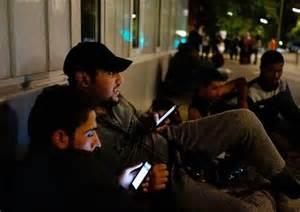 Syrian Refugee men in street in germany