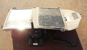 solar charger for the baofeng uv-5r radio