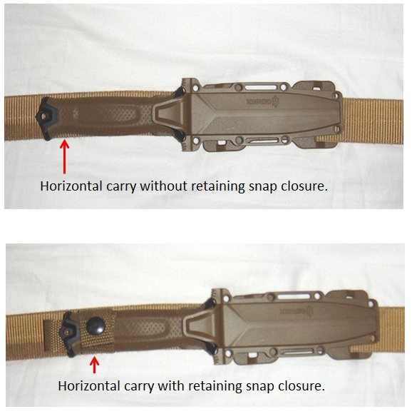 Gerber Strong Arm horizontal carry option