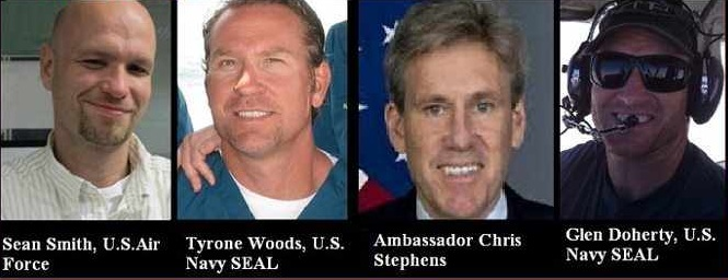 Americans killed in Beghazi on 9/11/2012 - never forget them