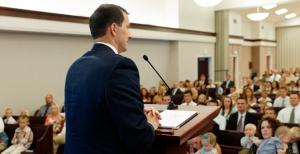 LDS Church Meeting congregation