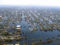 Hurricane Katrina wide-spread flooding