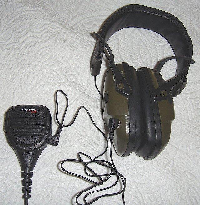 Radio speaker Mic Headset howard leight impact sports