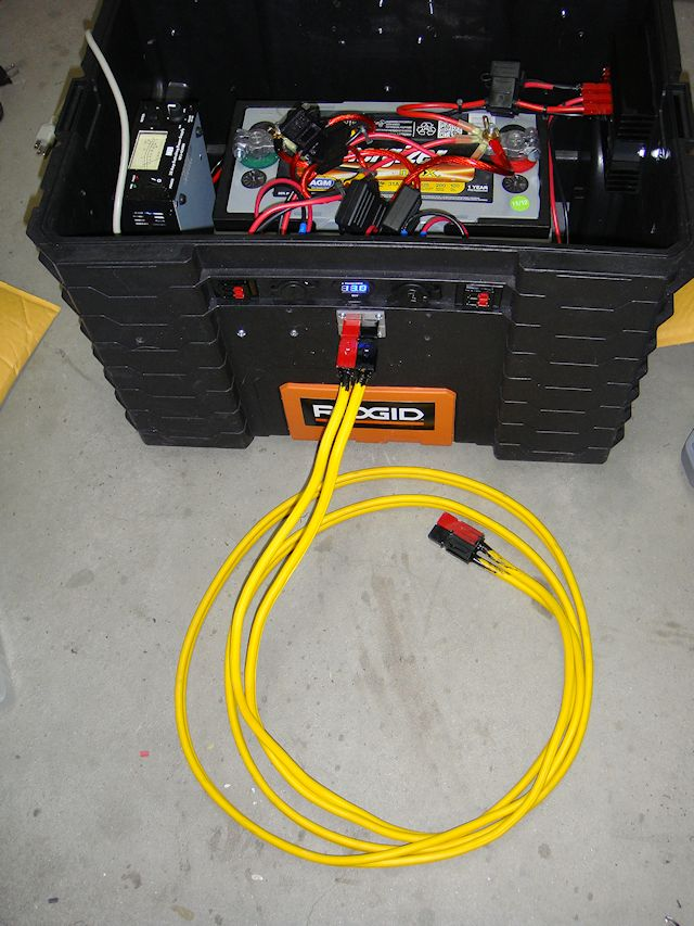 Power Box with 75amp extension cord.