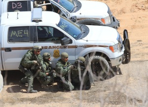 BLM special operations unit prepare to open fire on peaceful demonstrators in Bunkerville.