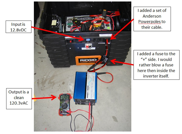 Aims Power Inverter hooked to solar generator
