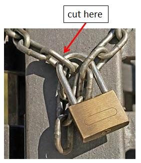 Lock & amp;Chain - where to cut
