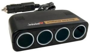 Wagan 4-Way 12V Automotive Socket Extender Duplicator
