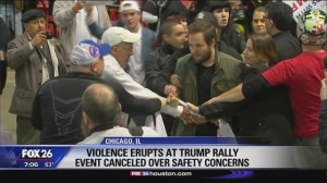 Political Rally Violence trump