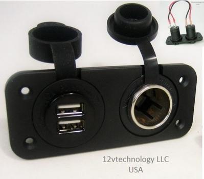 12v Technologies USB & power outlet