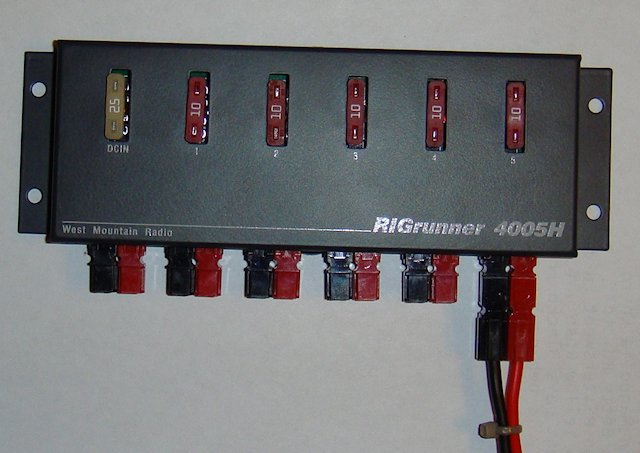 Standard Anderson Powerpole connection example.