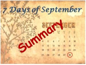 7 Days of September - Summary