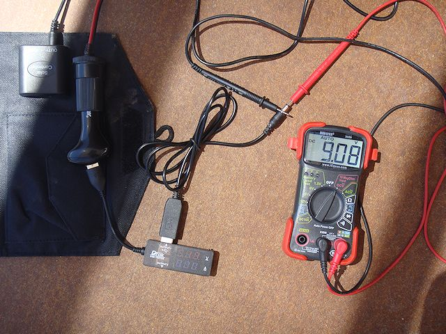 I attached the DROK USB 2.0 Digital Multimeter and my regular multimeter to that the power cable now turned the 5vDC into