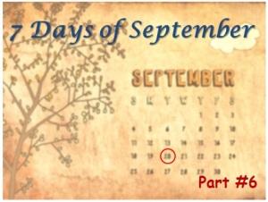 7 Days of September - Dehydration