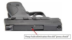 Smith Wesson MP shield peephole