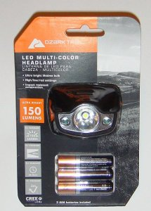 ozark trail 150 lumen headlamp - walmart