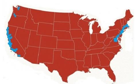 2016 popular vote map